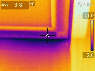 Thermorgrafie - luchtlek onder de deur